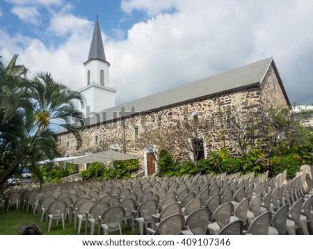 Mokuaikaua Church is the oldest Christian church in the Hawaiian Islands. - stock photo