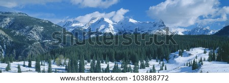 Molas Pass summit, off Million Dollar Highway, Colorado - stock photo