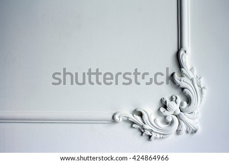 molding on the wall frieze on the wall, a bas-relief, wall decoration, background modeling - stock photo