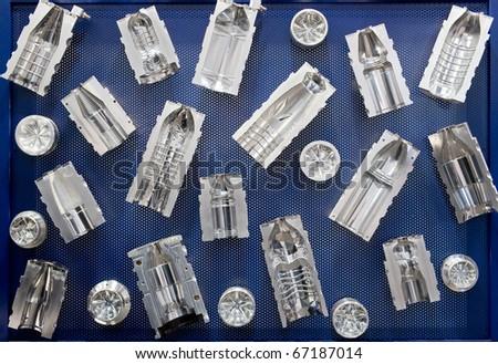 Molds for plastic bottles - stock photo