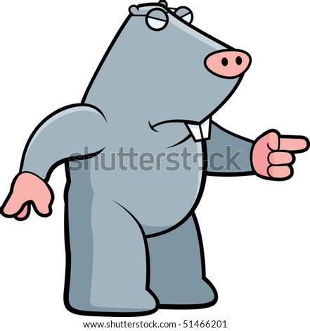 Mole Angry - stock photo