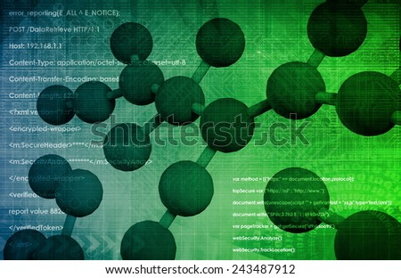 Molecular Biology and the Digital Science as a Art - stock photo