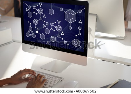 Molecular Structure Chemistry Science Experiment Concept - stock photo