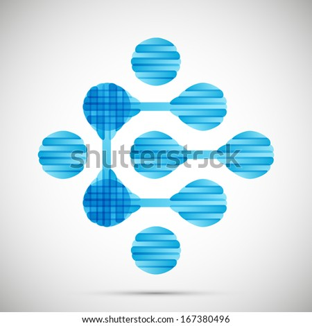 molecular structure, symbol - stock photo