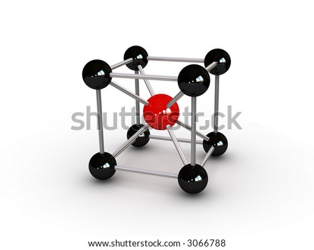 molecule abstract (can be used for printing or web) - stock photo