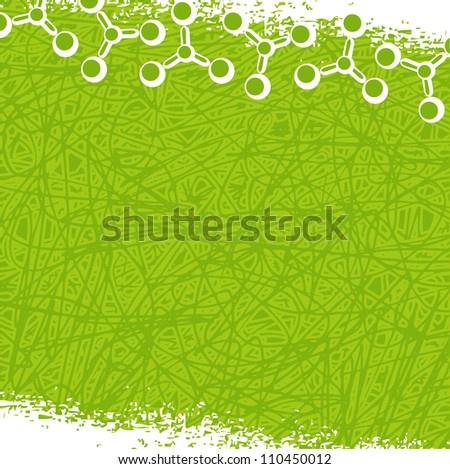molecule background (grunge style) - stock photo