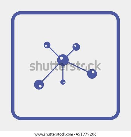 Molecule icon. - stock photo