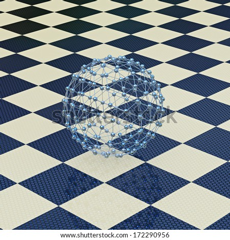 Molecule model - 3d rendered illustration - stock photo