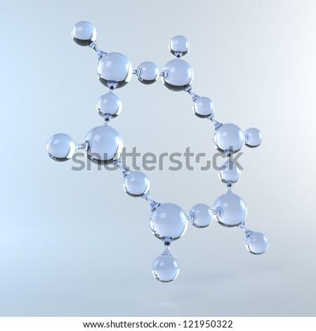 Molecule of Water - stock photo