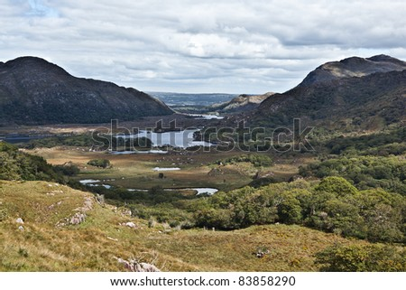 Moll's Gap at the Ring of Kerry in Ireland - stock photo