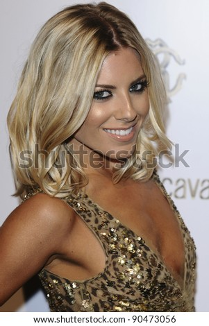Mollie King arriving for the Roberto Cavalli party at Battersea Power Station, London. 17/09/2011 Picture by: Steve Vas / Featureflash