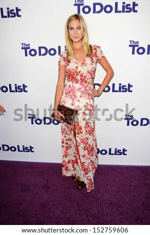 "Molly Quinn at ""The To Do List"" Los Angeles Premiere, Regency Bruin Theater, Westwood, CA 07-23-13"