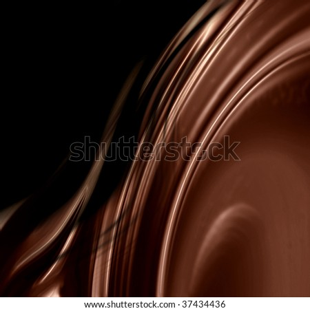 molten chocolate with some smooth lines in it