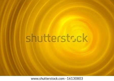 Molten Gold Surface - 3D fractal illustration - stock photo