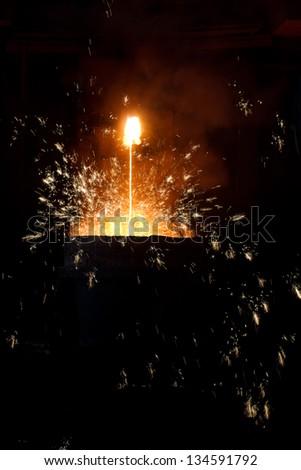 Molten steel - stock photo