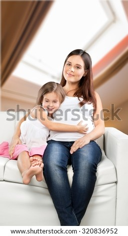 Mom and infant. - stock photo
