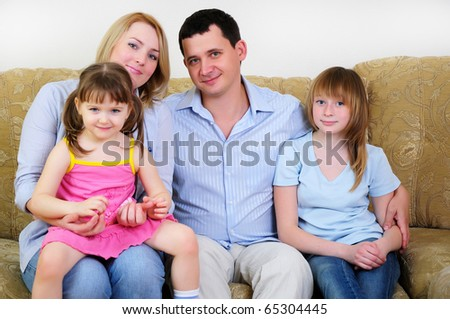 Mom, Dad and their two daughters to spend time together, socialize and enjoy life