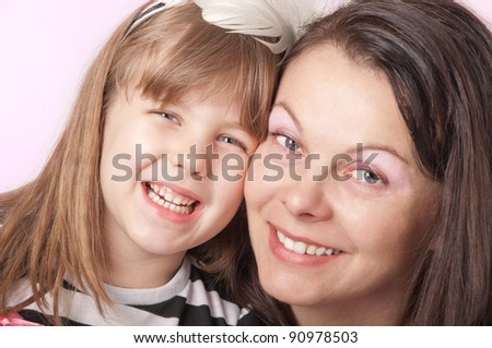 mom with her daughter