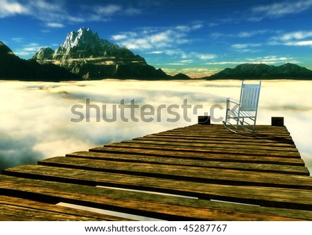 Moment of contemplation - stock photo