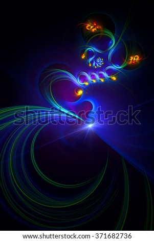 Moment of Creation of a person abstract illustration - stock photo