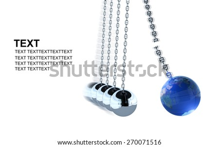 Momentum of Earth. Earth Elements of this image furnished by NASA.Earth day Concept - stock photo