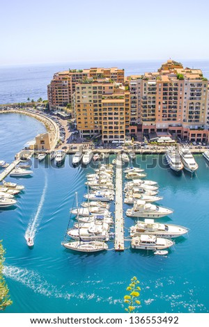 Monaco and yachts - stock photo