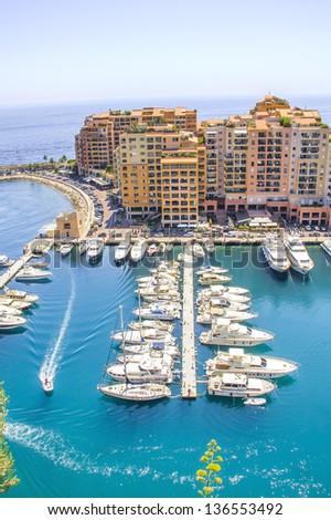 Monaco and yachts - stock photo
