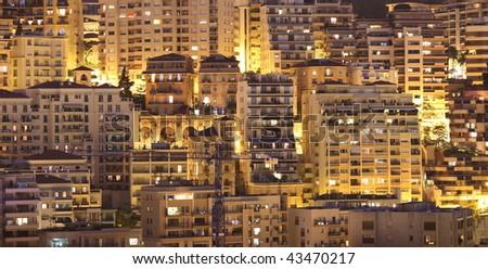 Monaco by night - stock photo
