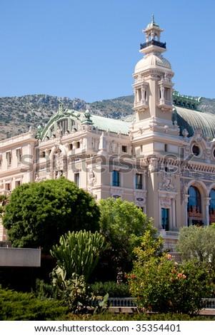 Monaco Grand Casino. View from the park. - stock photo