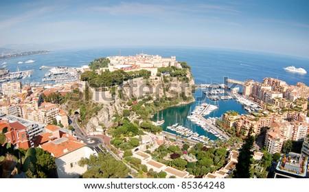 Monaco harbour view. Monte Carlo. - stock photo