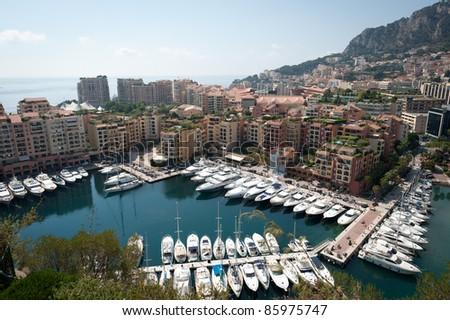 Monaco in the Cote d'Azur - stock photo