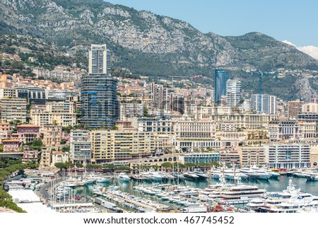Monaco Monte Carlo sea view with yachts