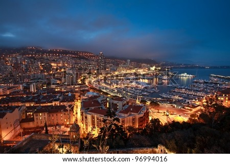 Monaco night - stock photo