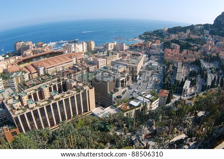 Monaco panorama. Monte Carlo. - stock photo
