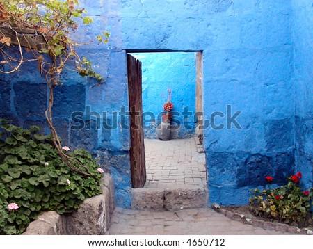 Monasterio de Santa Catalina.  Arequipa.  Peru. - stock photo