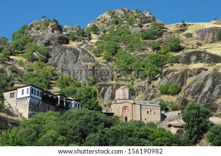 Monastery Holy Archangel Michael, Varos, Prilep, Montenegro  - stock photo