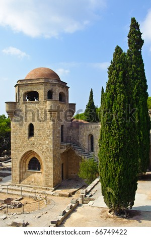 Monastery in Filerimos/Rhodes/Greece