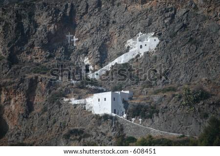Monastery, Kythera, Greece - stock photo