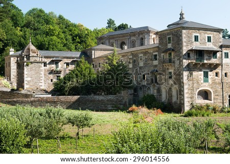 Monastery of Samos, an important monastery and important crossing point of the journey of santiago