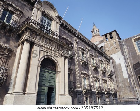 Monastery of San Nicolo l'Arena, now is the University of Catania, Catania, Sicily, ITALY