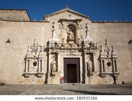 Monastery of Santa Maria de Poblet.Catalonia.Spain - stock photo