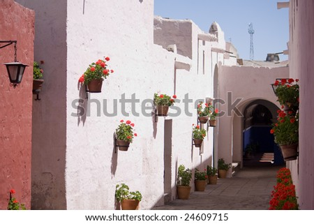 Monastery of St. Catherine at Arequipa, Peru - stock photo