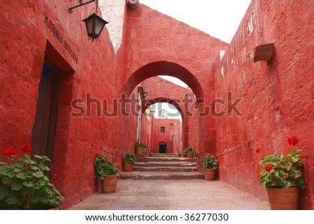 Monastery of St. Catherine at Arequipa, Peru - stock photo