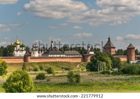Monastery of St. Euthymius at Suzdal, Russia - stock photo