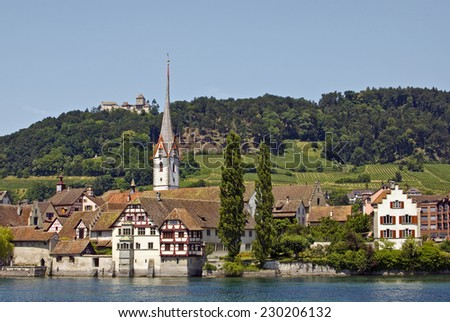 Monastery of St. Georgen, Stein am Rhine, Germany - stock photo
