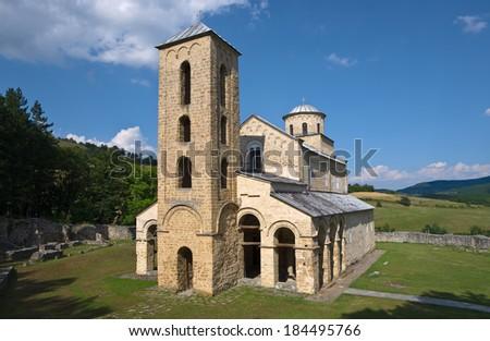 Monastery Sopocani in Serbia - stock photo
