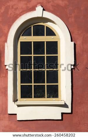 monastic window - stock photo