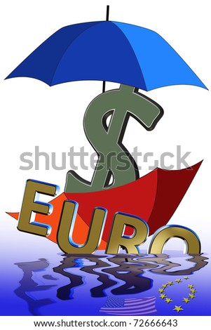 Monetary crisis in-spite of heavy subsidies from governments around the world. - stock photo
