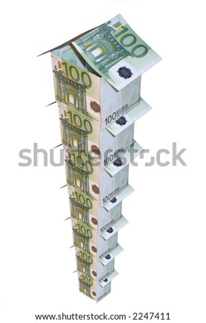 Monetary high-rise building - stock photo