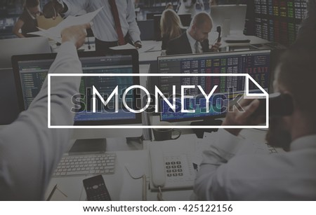 Money Accounting Cash Finance Funds Concept - stock photo